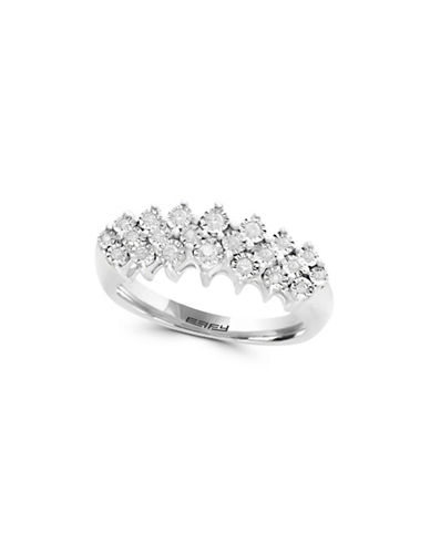 Miscellaneous 14K Gold and Sterling Silver Ring with 0.2 TCW Diamond-SILVER-7
