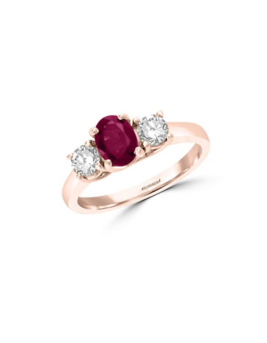 Effy Natural Ruby, White Sapphire and 14K Rose Gold Ring-RUBY-7 89114666_RUBY_7