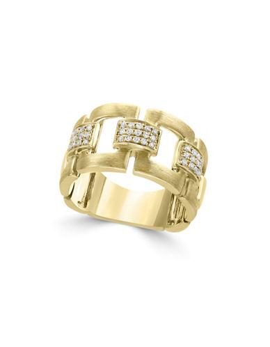 Effy 0.22 TCW Diamond and 14K Yellow Gold Midi Ring-WHITE-7