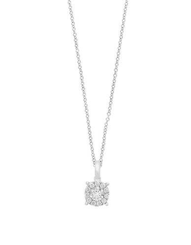 Effy 0.26 TCW Diamond Pendant, 14K White Gold Necklace-WHITE GOLD-One Size