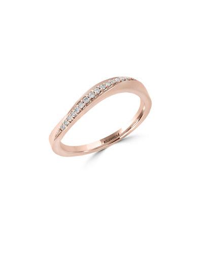 Effy 14K Rose Gold Ring with 0.08 tcw Diamonds-ROSE GOLD-7