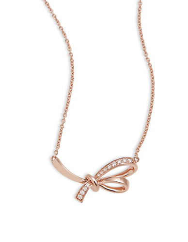 Effy 14K Rose Gold Knot Pendant Necklace with 0.07 TCW Diamonds-ROSE GOLD-One Size