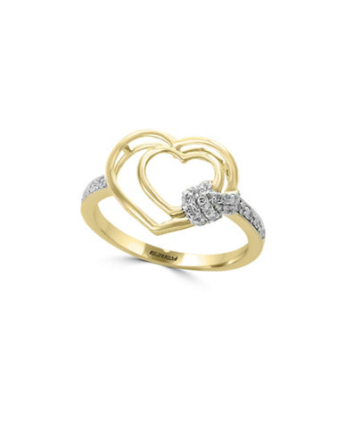 Effy 14K Yellow Gold Cocktail Ring with 0.14 TCW Diamonds-YELLOW GOLD-7
