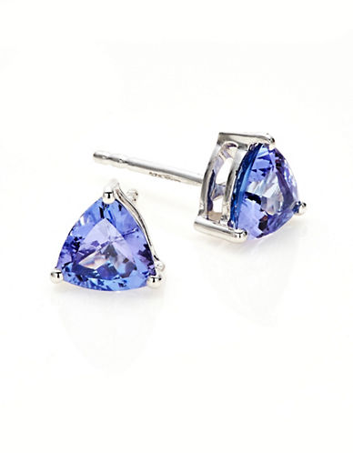 Effy Silver and Tanzanite Triangle Stud Earrings-TANZANITE-One Size