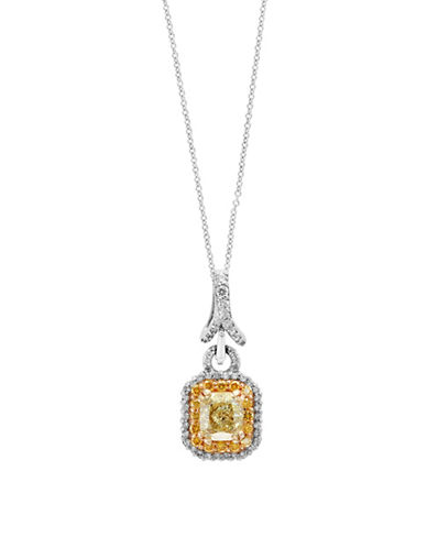Effy 18K White and Yellow Gold Pendant Necklace with 1.79 TCW Diamonds-YELLOW-One Size