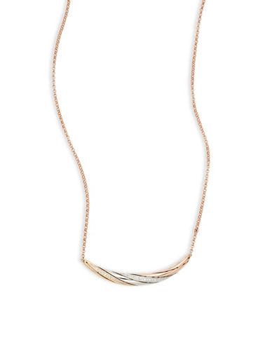 Effy 14K Tri-Tone Gold, 0.13 TCW Diamond Bar Necklace-DIAMOND-One Size