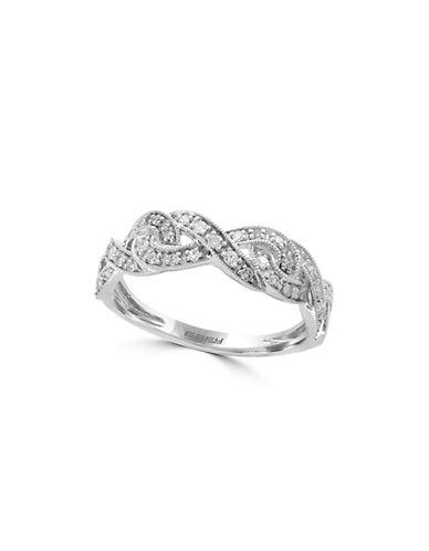 Effy 14K White Gold 0.77TCW Diamond Band Ring-DIAMOND-7