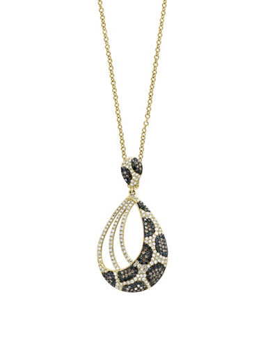 Effy 14K Yellow Gold Pendant Necklace with 1.06TCW Diamond, Black Diamond, Espresso Diamond-YELLOW GOLD-One Size