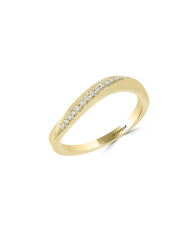 Effy 14K Yellow Gold Ring with 0.08 TCW Diamonds-GOLD-7