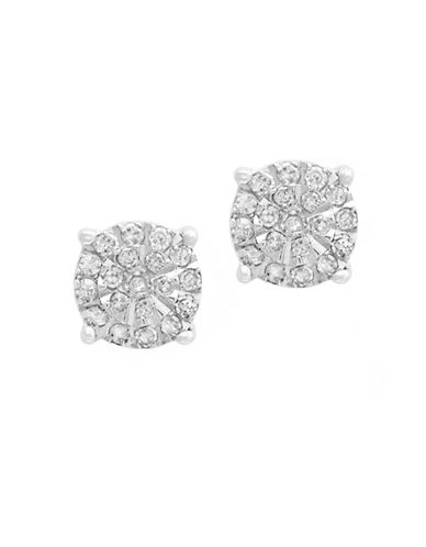 Miscellaneous Sterling Silver Earrings with 0.26 TCW Diamond-WHITE-One Size