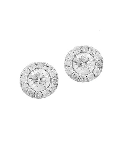 Effy 14K White Gold Round Stud Earrings with 0.49 TCW Diamonds-DIAMOND-One Size