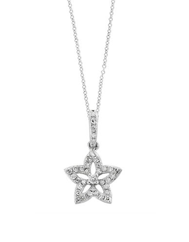 Effy 14K White Gold Floral Pendant Necklace with 0.14 TCW Diamond-WHITE GOLD-One Size