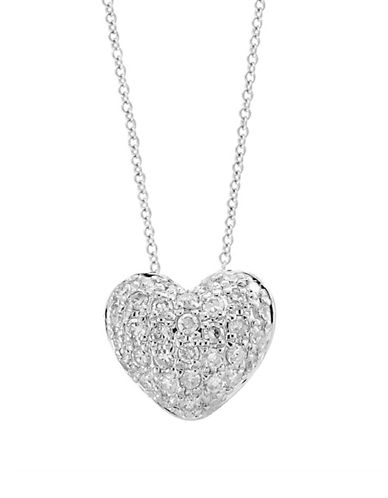 Effy 14K White Gold Heart Pendant Necklace with 0.14 TCW Diamond-WHITE GOLD-One Size