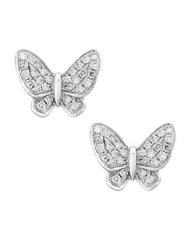Effy 14K White Gold Earrings with 0.15 TCW Diamonds-DIAMOND-One Size