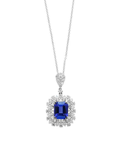 Effy 18K White Gold and Tanzanite Pendant Necklace with 1.49 TCW Diamonds-BLUE-One Size