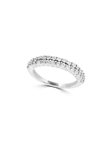 Effy 14K White Gold Two-Row Ring with 0.1 TCW Diamond-WHITE GOLD-7