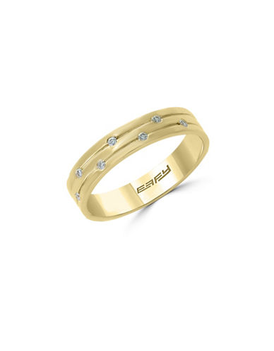 Effy 14K Yellow Gold Studded Ring with 0.05 TCW Diamonds-GOLD-7