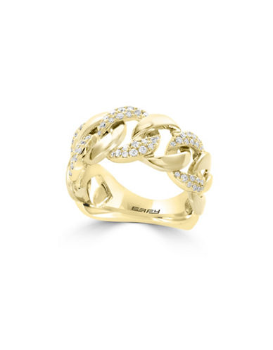 Effy 14K Yellow Gold Circular Ring with 0.32TCW Diamonds-GOLD-7