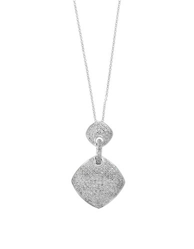 Effy 0.39 TCW Diamond and  Sterling Silver Pendant Necklace-WHITE-One Size