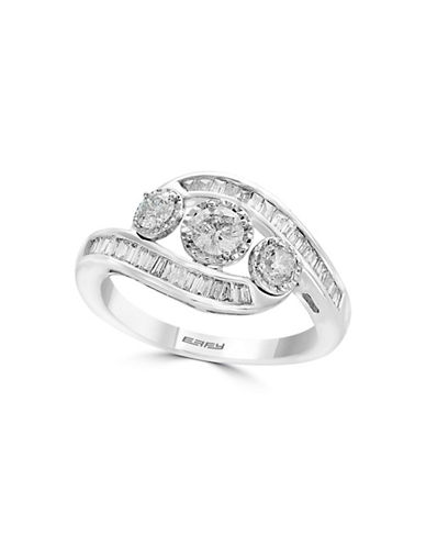 Effy 0.82 TCW White Gold Diamond and 14K White Gold Ring-WHITE GOLD-7
