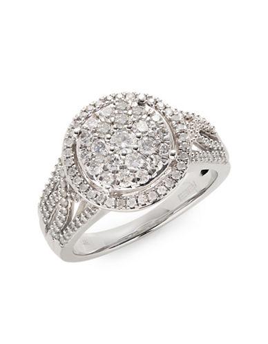 Effy 14K White Gold Ring with 0.98TCW Diamonds-DIAMOND-7
