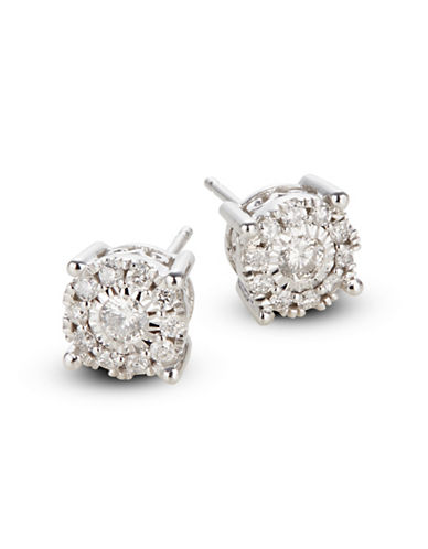 Effy 14K White Gold Stud Earrings with 0.50 TCW Diamonds-DIAMOND-One Size