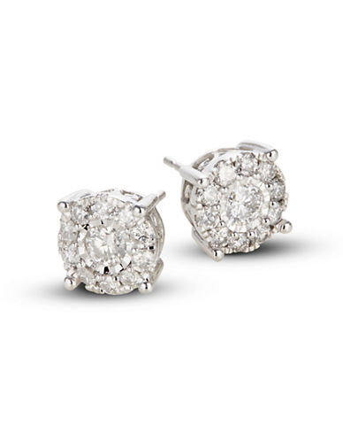 Effy 14K White Gold Stud Earrings with 1.0 TCW Diamonds-DIAMOND-One Size