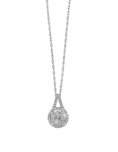 Effy 0.49 TCW Diamond and 14K White Gold Pendant Necklace-WHITE GOLD-One Size