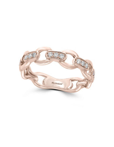 Effy 0.16 TCW Diamond and 14K Rose Gold Band Ring-WHITE-7