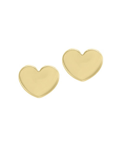 Effy 14K Yellow Gold Heart Stud Earrings-GOLD-One Size