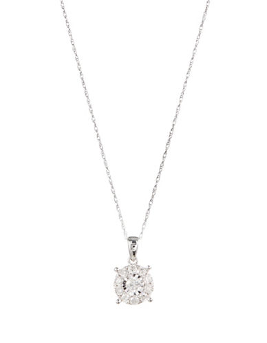 Effy 14K White Gold Pendant Necklace with 0.98CTW Diamonds-DIAMOND-One Size