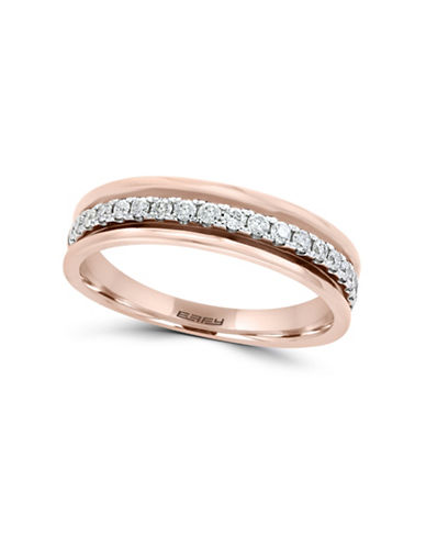Effy 0.25 TCW Diamond and 14K Rose Gold Band Ring-WHITE-7