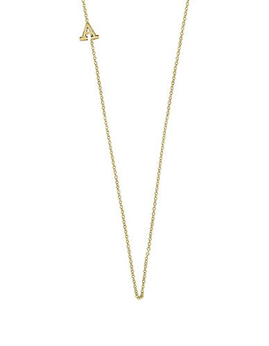 Effy 14K Yellow Gold Asymmetrical Initial Necklace-LETTER A-One Size