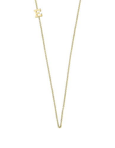 Effy 14K Yellow Gold Asymmetrical Initial Necklace-LETTER E-One Size