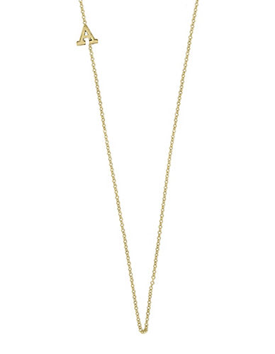 Effy 14K Yellow Gold Asymmetrical Initial Necklace-LETTER F-One Size