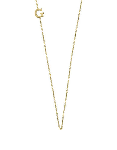 Effy 14K Yellow Gold Asymmetrical Initial Necklace-LETTER G-One Size