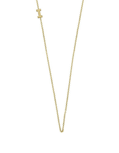 Effy 14K Yellow Gold Asymmetrical Initial Necklace-LETTER I-One Size