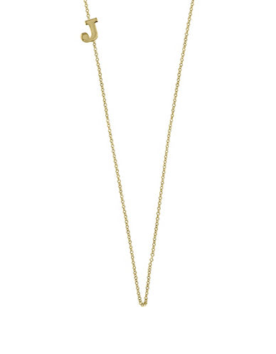Effy 14K Yellow Gold Asymmetrical Initial Necklace-LETTER J-One Size