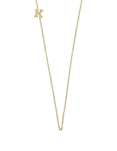 Effy 14K Yellow Gold Asymmetrical Initial Necklace-LETTER K-One Size