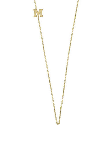 Effy 14K Yellow Gold Asymmetrical Initial Necklace-LETTER M-One Size