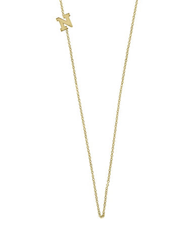 Effy 14K Yellow Gold Asymmetrical Initial Necklace-LETTER N-One Size