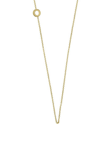 Effy 14K Yellow Gold Asymmetrical Initial Necklace-LETTER O-One Size