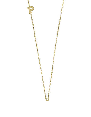 Effy 14K Yellow Gold Asymmetrical Initial Necklace-LETTER P-One Size