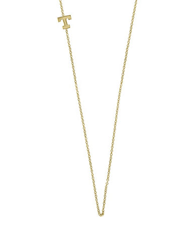 Effy 14K Yellow Gold Asymmetrical Initial Necklace-LETTER T-One Size
