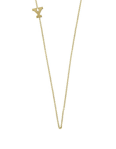 Effy 14K Yellow Gold Asymmetrical Initial Necklace-LETTER Y-One Size