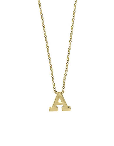 Effy 14K Yellow Gold Large Initial Necklace-LETTER A-One Size