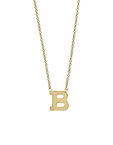 Effy 14K Yellow Gold Large Initial Necklace-LETTER B-One Size