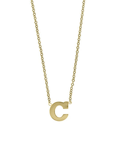 Effy 14K Yellow Gold Large Initial Necklace-LETTER C-One Size