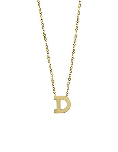 Effy 14K Yellow Gold Large Initial Necklace-LETTER D-One Size