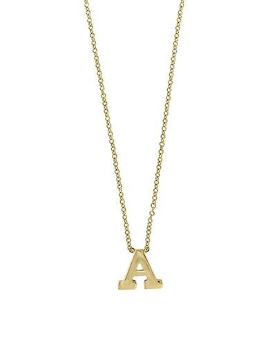 Effy 14K Yellow Gold Large Initial Necklace-LETTER F-One Size
